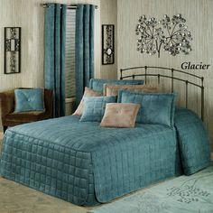 Camden Grande Fitted Bedspread, color is Glacier