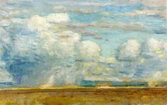 Clouds (also known as Rain Clouds over Oregon Desert), 1908, by Childe Hassam