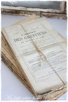 Old French papers.. <3