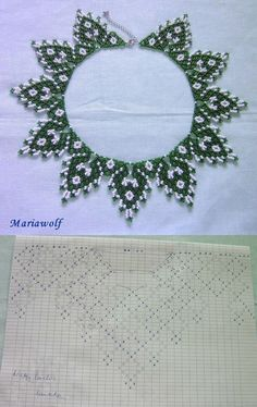This Pin was discovered by Sán Diy Necklace Patterns, Beaded Jewelry Patterns, Beading Patterns, Beading Projects, Beading Tutorials, Bead Loom Bracelets, Beaded Cross Stitch, Handmade Beads, Loom Beading