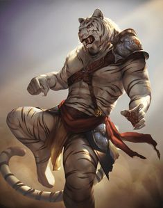 d178b7e7588c Request - weretiger by kazashino.deviantart.com on  DeviantArt Fantasy  Warrior