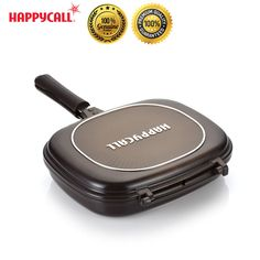 Happycall Nonstick Double Sided Pressure Jumbo Titanium Grill Frying Pan Cooking #Happycall