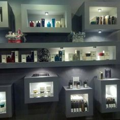 Love these retail shelves. They are in a salon in Chicago!
