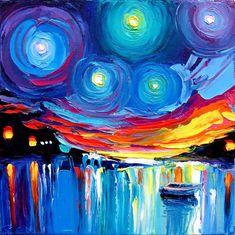 Midnight Harbor XXVII by sagittariusgallery @deviantart. Most definitely going in my home one day.