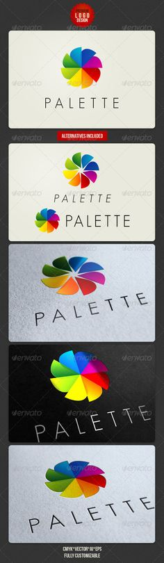Palette Clean Logo Design  - EPS Template • Only available here ➝ http://graphicriver.net/item/palette-clean-logo-design/2522267?ref=pxcr
