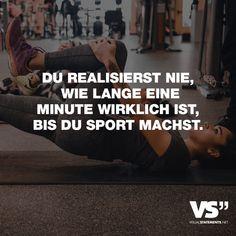Visual Statements®️️ Du realisierst nie, wie lange eine Minute wirklich ist, bis du Sport machst. Sprüche / Zitate / Quotes / Spaß / lustig / witzig / Fun / Lachen / Humor