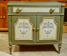 Chest in Chateau Grey, Country Grey and Paloma, Annie Sloan Chalk Paint