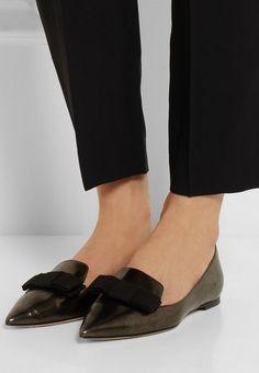 Casual look: Jimmy Choo Gala Mirrored Pointed Toe Flat