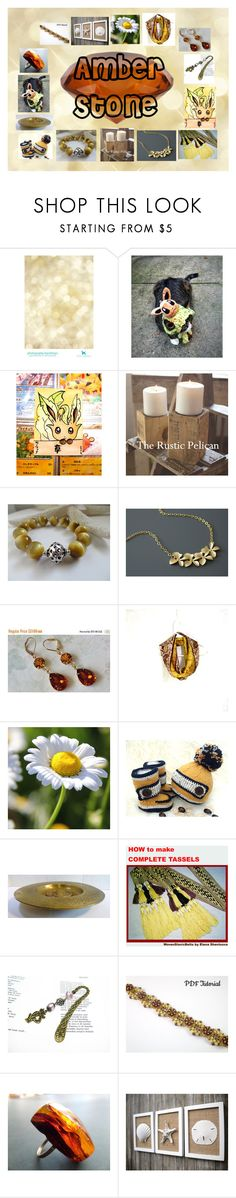 """""""Amber Stone: Handmade & Vintage Gifts"""" by paulinemcewen ❤ liked on Polyvore featuring rustic and vintage"""