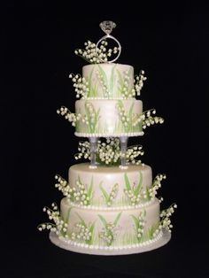 Lilly of the Valley Wedding Cake