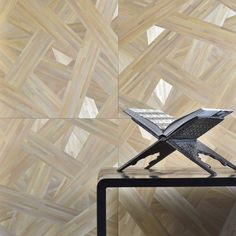 Alexander Lamont straw marquetry wall panels