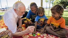 Joseph Sparling's latest Abecedarian project, 3A (Abecedarian Approach Australia), is being carried out in the Northern Territory, providing Indigenous children with education opportunities and support