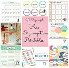 Mammamoiselle: {Month Series} Getting Organized - Free Organization Printables