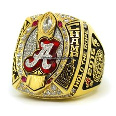 2015 Alabama Crimson Tide NCAA Championship Ring. Best gift from www.championshipringclub.com for Alabama Crimson Tide fans. You can custom your own personalized championship ring now.