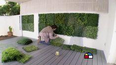 ¿Cómo instalar un deck nivelable de PVC y un muro verde?