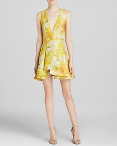 Alice + Olivia Dress - Tanner Asymmetrical Floral | Bloomingdale's