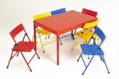 Cosco Products 37371RED1E Kids 7Piece Folding Chair and Table Set Red *** Be sure to check out this awesome product.