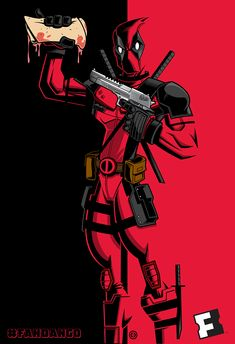Katanas, Guns, Chimichangas. Deadpool Art By: Tracy Tubera