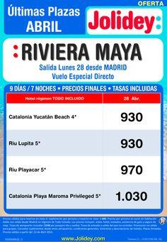 Riviera Maya Últimas Plazas desde 930€, salida Lunes 28 de Abril desde Madrid ultimo minuto - http://zocotours.com/riviera-maya-ultimas-plazas-desde-930e-salida-lunes-28-de-abril-desde-madrid-ultimo-minuto/