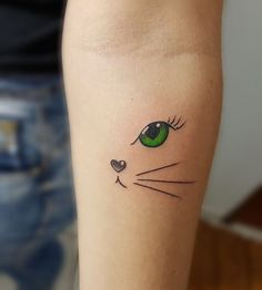 In this post, you get different cat tattoo ideas. So here are some cool Cay Eye Tattoo Designs which you definitely loved. Cat Eye Tattoos, Kitten Tattoo, Cute Cat Tattoo, Animal Tattoos, Body Art Tattoos, Girl Tattoos, Sleeve Tattoos, Tatoos, Cat Tattoo Designs