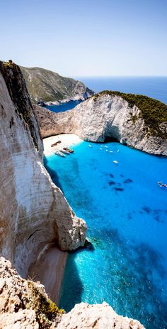 Stunning View of Blue lagoon and beach Navagio, Greece | 25 Gorgeous Pictures Of Greece That Will Take Your Breath Away
