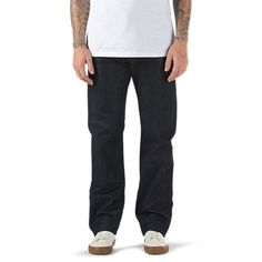 The GC Denim Chino, part of the Gilbert Crockett signature collection, is a 100% cotton 12 oz. cone denim pant woven at the White Oak Mill in Greensboro, NC. Featuring a cross-hatch weave that becomes visible with normal wear and tear, the GC Denim Chino also includes classic chino styling details, a button fly, and a genuine leather patch on the waistband. Model is 6 feet tall and wearing a size 32 x 32.