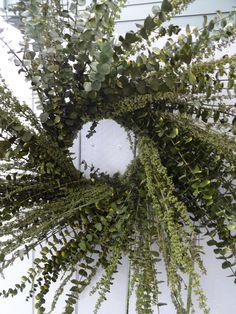 Eucalyptus Wreath  Autumn Wreath Indoor Wreath  Fragrant Wreath  Large Wreath  Natural Wreath  Preserved Wreath by donnahubbard on Etsy