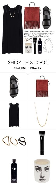 """""""Untitled #1800"""" by katerina-rampota ❤ liked on Polyvore featuring Alexander Wang, Gucci, J Brand, Ten Thousand Things, Monki, Bobbi Brown Cosmetics, Fornasetti and BANCI GIOIELLI"""