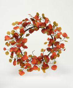 ZiaBella Autumn Aspen Leaf Wreath | zulily