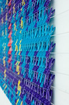 "~""Tapestry"" wall art...made from clothespins!"