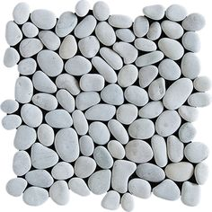 Shower Floor? Zoomed: Marble Systems 10-Pack 12-in x 12-in White Pebbles Natural Stone Wall Tile