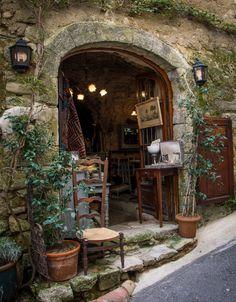 Bonnieux Antique Shop in Provence-Alpes-Cote dÀzur, France La Provence France, Shop Fronts, Exterior, Shop Around, French Countryside, Rhone, South Of France, Antique Shops, France Travel