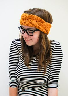 Knit Cabled Ear Warmer by agirlnamedleney on Etsy, $30.00