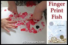 Finger Print Fish - Leo Lionni's Swimmy for theVirtual Book Club For Kids at 3 Dinosaurs