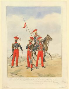 British; 12th (Prince of Wales's Royal) Lancers 1817 by Henry Alken
