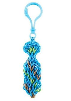 Rainbow Loom® Dad's Striped Tie Keychain