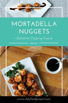 Mortadella Nuggets with a Balsamic Dipping Sauce