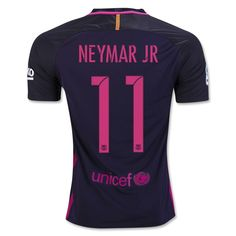 Barcelona 2016/17 Away Men Soccer Jersey NEYMAR JR #11 Item Specifics - Brand: NIKE - Gender: Men - Model Year: 2016-2017 - Material: Polyester - Type of Brand Logo: Embroidered - Type of Team Badge: