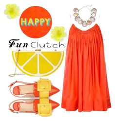 """""""Fun Clutch"""" by janicevc on Polyvore featuring Jessica McClintock, DOUUOD, STELLA McCARTNEY, Lisa Perry and Paolo Costagli"""