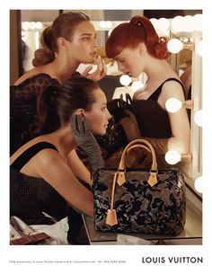 Christy Turlington, Natalia Vodianova, & Karen Elson for Louis Vuitton Fall 2010 campaign. Photographed by Steven Meisel.