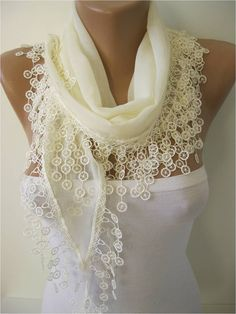 ONE SALE - scarf ,women scarves - guipure -  fashion scarf - gift scarves -Shawl- Fashion Shawls.  Love this