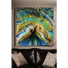 Peacock Abstract Canvas Art Print at Kirkland's #kirklands #pinitpretty
