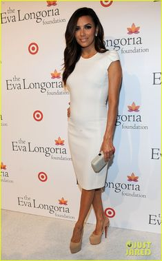 Eva Longoria.  Emillo Pucci dress.  Christian Louboutin shoes.  Salvatore Ferragamo clutch.