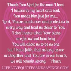 Thank you so much Lord for Ethan, God I do believe that you made him just for me. Please keep our eyes focused on You and please keep us second in each other's lives forever. Amen