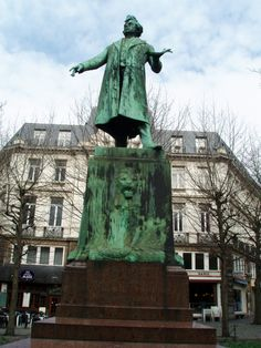 Statue of Charles Latour Rogier in Brussels, Belgian liberal statesman and one of the leaders in the Belgian Revolution of 1830.