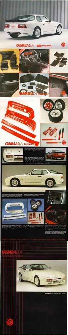 Porsche 944 Gemballa Brochure
