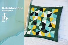 Patchwork Kaleidoscope Half Square - Kaleidoskop z půlených čtverců.
