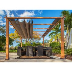 11 ft. x 11 ft. Aluminum Catalina Pergola, Browns/Tans