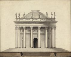 Louis Gustave Taraval, A Classical Temple, c. 1780