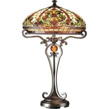 Dale Tiffany Lamps Boehme 2 Light Tiffany Table Lamp